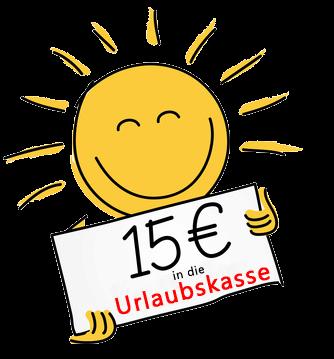 Sparen Sie hier 15 Euro!
