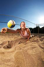 Foto: Beachvolleyball wurde zum Lieblingssport für den August gewählt