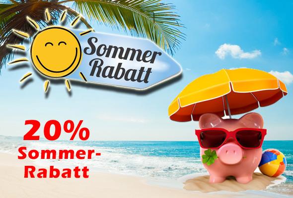 20% Sommer-Rabatt für Sie
