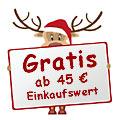 Gratis ab 45 € - Logo