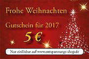 Wir schenken Ihnen zusätzlich einen 5-€-Gutschein für das neue Jahr